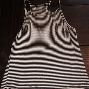 Brandy Melville striped cropped tank one size